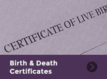 Birth and Death Certificates